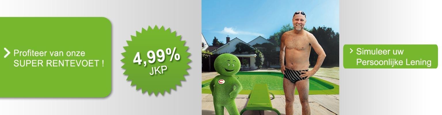 Uw persoonlijke lening aan een super rentevoet van 4,99%!