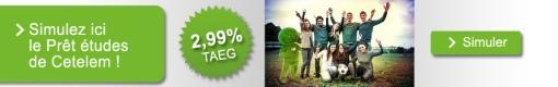 Le prêt études à 2,99% TAEG