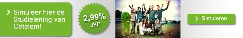 De studielening aan 2,99% JKP