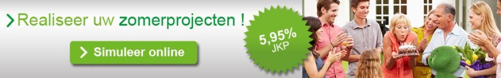 Uw persoonlijke lening aan 5,95% JKP!
